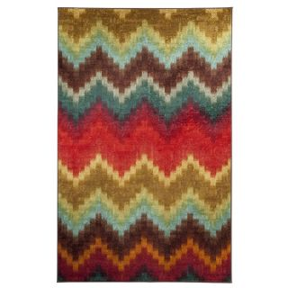 Mohawk Home Painted Zig Zag Multi Rug (8 x 10)   15599998