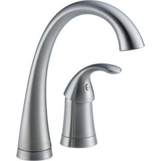 Delta Pilar Waterfall Single Handle Bar Faucet in Arctic Stainless 1980 AR DST