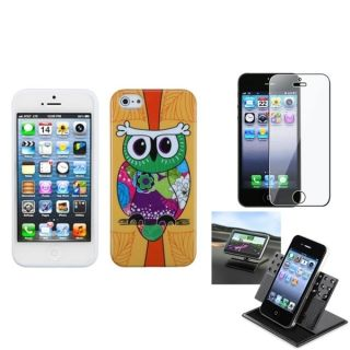 INSTEN Car Dashboard Holder/ Candy Skin Phone Case for Apple iPhone 5