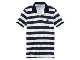 Aeropostale Mens A87 Textured Striped Rugby Polo Shirt 629 S