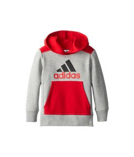 adidas kids pop fleece pullover toddler little kids grey heather w light scarlet