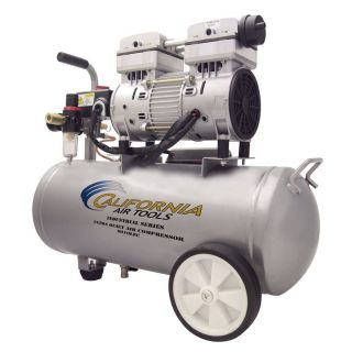 California Air Tools Ultra Quiet 1 HP 6 Gallon 125 PSI 110 Volt Horizontal Portable Electric Air Compressor