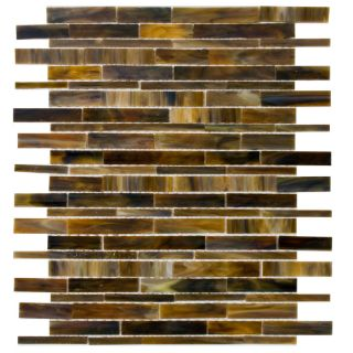 Elida Ceramica Glass Mosaic Tortis Seashell Mosaic Glass Wall Tile (Common 12 in x 12 in; Actual 12 in x 13 in)