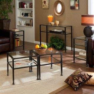 Southern Enterprises Metal Shadow Box Table Collection   Coffee Table