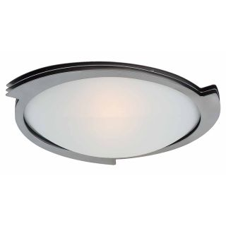Access Lighting Triton 19 in W Brushed Steel Ceiling Flush Mount Light