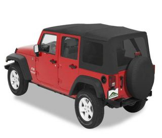 Pavement Ends   Pavement Ends Replay Top Soft Top (Black Diamond) Replacement Top, 51201 35   Fits 2007 to 2009 JK Wrangler Unlimited and Rubicon Unlimited