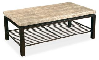 Bernhardt Tempo Rectangular Stone Top Cocktail Table   Coffee Tables