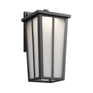 Kichler Lighting Amber Valley 13 in H Led Textured Black Outdoor Wall Light