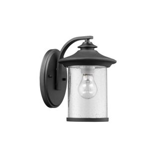 Chloe Transitional 1 light Textured Black Outdoor Wall Lantern 2 pack