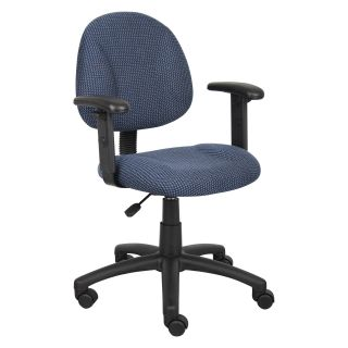 Boss Deluxe Posture Chair with Adjustable Arms   Desk Chairs