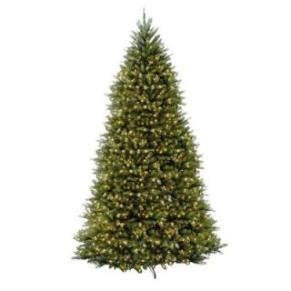 National Tree Company 10 ft. Pre Lit Dunhill Fir Hinged Artificial Christmas Tree with Clear Lights DUH 100LO S