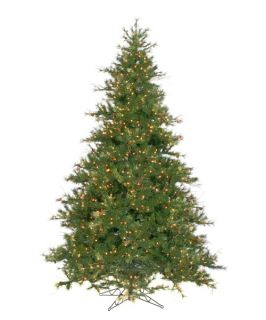 Mixed Country Pine Full Pre lit Christmas Tree   Christmas Trees