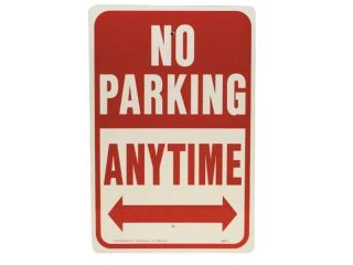 Alum No Parking Anytime Sign Hy Ko Products Misc Signs, Numbers, Letters HW 1.
