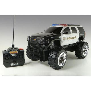 Jada Toys Chevy Tahoe Police Truck Lights and Sounds Remote Control