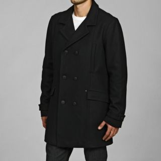 Black Rivet Mens Wool/Cashmere Blend Peacoat   12732576