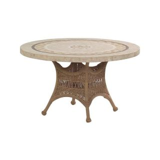 Woodard S596604 Sommerwind 48 Round Stone Top Umbrella Table