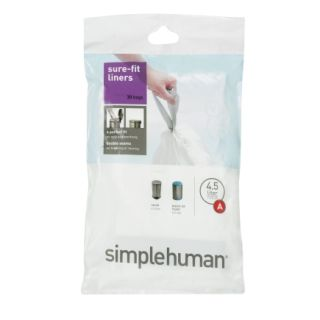 simplehuman® 4.5L Trash Can Liners (CW0160)   Trash Bags & Holders