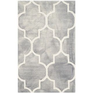 Safavieh Handmade Moroccan Cambridge Dark Grey/ Ivory Wool Rug (2 x 3
